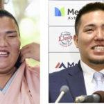 御嶽海と山川選手